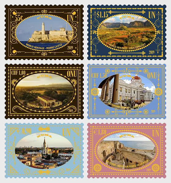 (3 Uffici) - 2019 Patrimonio Mondiale, Cuba - Serie CTO