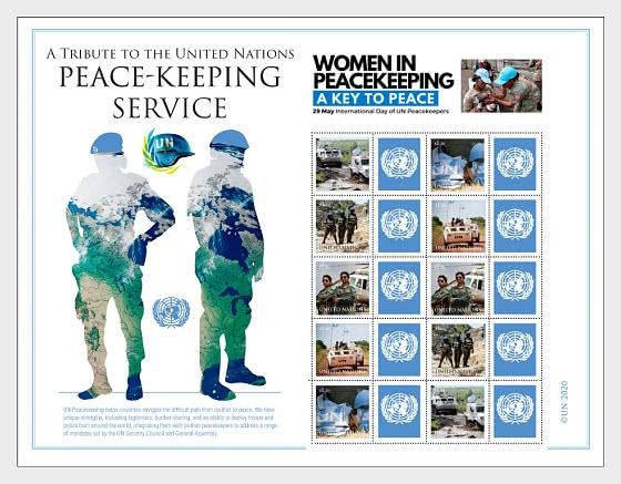 向联合国维持和平服务致敬 - 小版张