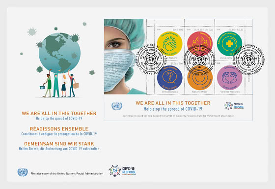 COVID-19 - FDC Sheet (3 Offices) - First Day Cover