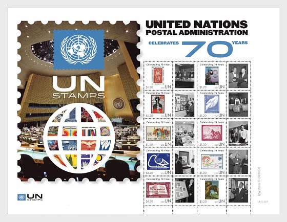 70th Anniversary of UNPA New York - Sheetlets