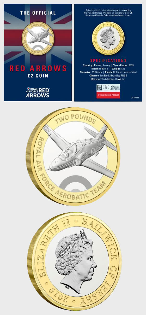 JERSEY - Red Arrows BU £2 Coin - Single Coin