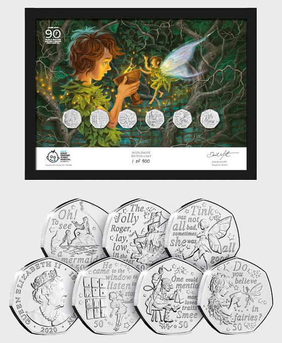 ISLE OF MAN - The Peter Pan 50p Framed Edition - Commemorative