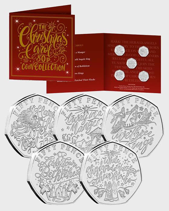 GUERNSEY - The Christmas Carol 50p Coin Collection Pack - Coin Card