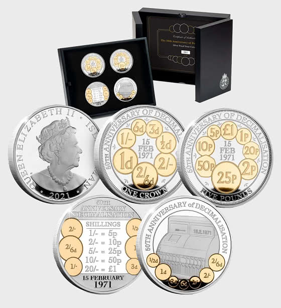 The Decimalisation Silver Proof Coin Set - Silver Coin